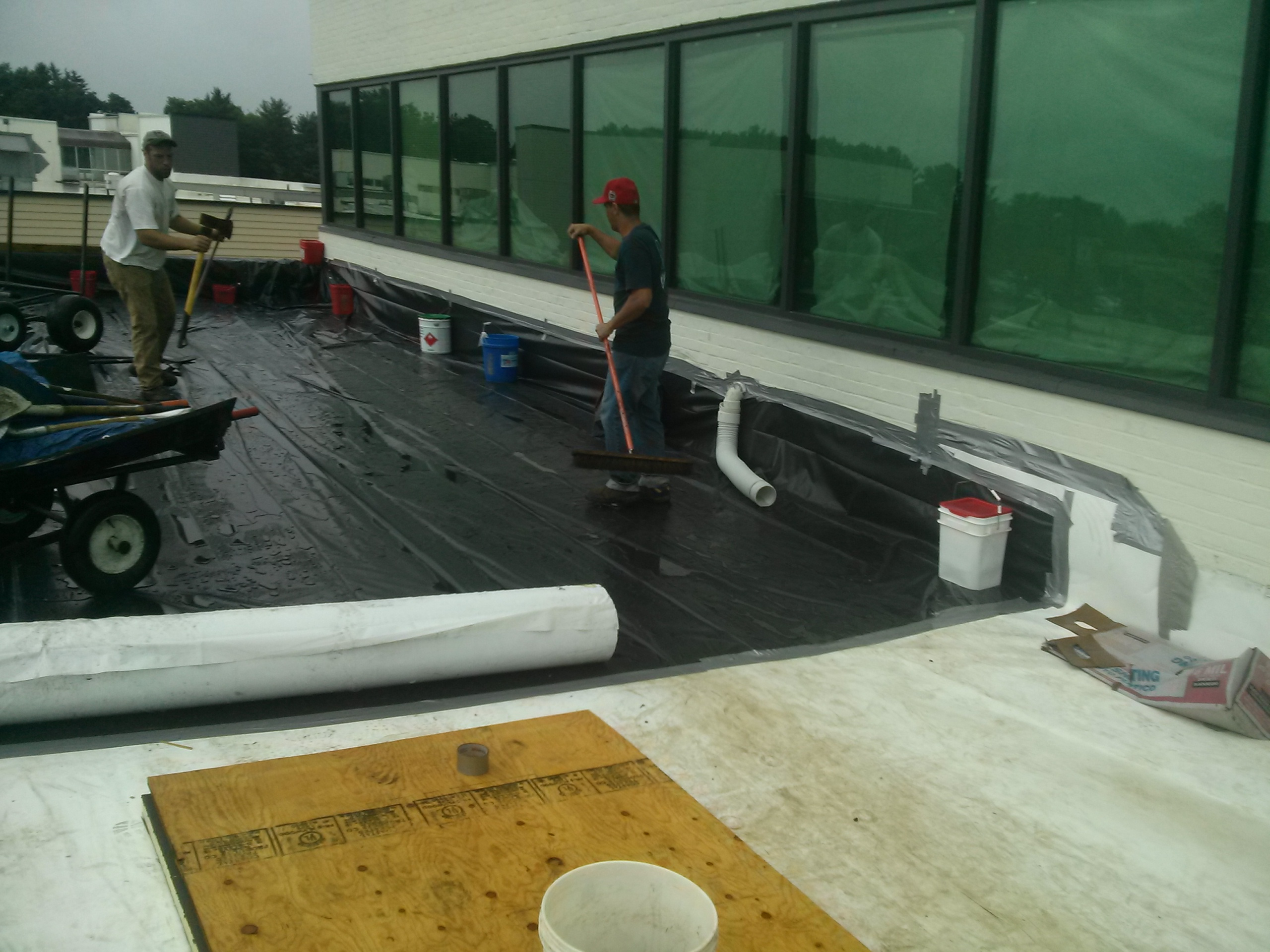 Flat Roof Flood Repair – Bishop's Corner – Connecticut
